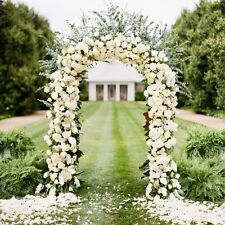 7.9 ft Metal Arch Wedding Party Bridal Prom Garden Floral Decoration Army Green