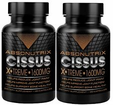 2 Bottles Absonutrix Cissus Joint Pain Antioxidant All Natural 1600mg/serving