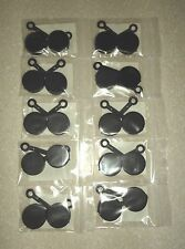 TEN (10) PAIRS - U.S. MILITARY M24 BINOCULAR LENS CAPS - NEW IN PACKAGE