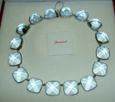 Authentic $5000 BACCARAT Aqua Blue MEDICIS Crystal Sterling Necklace Mint in Box
