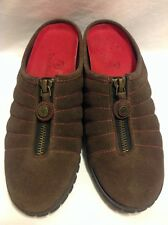 Women Cole Haan Nike Air Size 5.5 B Brown Suede Slide Shoes