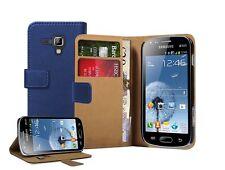 Portefeuille bleu en cuir flip housse pochette pour Samsung Galaxy S Duos 2 GT-S7582