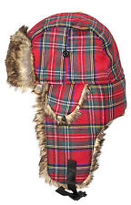 Royal Stewart Trapper Hat Red Winter Gifts Scottish Scotland