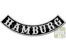Aufnäher Biker Patch HAMBURG Bogen unten 30cm gestickt, Bottom Rocker , MC