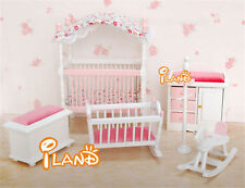 1: 12dollhouse   toy pink children's room furniture bedroom sets cute baby