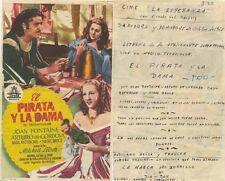 Programa PUBLICITARIO de CINE: EL PIRATA Y LA DAMA.