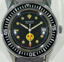 Blancpain Rare 50 Fathoms Genuine Military Watch Radiation Edition Vintage Fifty