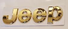24ct GOLD PLATED JEEP FRONT REAR BONNET BOOT TAILGATE LETTERS BADGE 24K