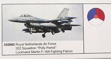Herpa 1:200  -  Royal Netherlands Air Force F-16A  Falcon -Polly Parrot - 552882