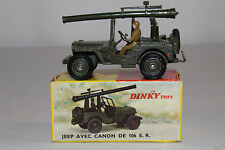 1960's French Dinky #829 Jeep with Mounted Cannon, Nice with Original Box, Lot 7