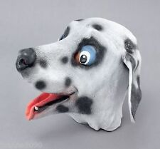*Adult Dalmatian Puppy Dog Fancy Dress Costume Full Overhead Latex Rubber Mask*