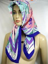 """ITALY POLLINI SETA Silk 87""""x87"""" Women Scarf Wrap Shawl Lady Floral Holiday Gift"""
