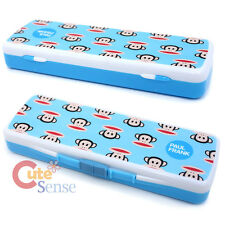 Paul Frank Plastic Pencil Case Slip Open Box - Blue Classic Face
