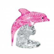 95 Piece Translucent Crystal 3D Dolphin Puzzle (Pink)