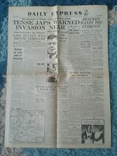 EXPRESS NEWSPAPER-WW2- June 7th 1945-End Approaches on Okinawa-Battle of Okinawa