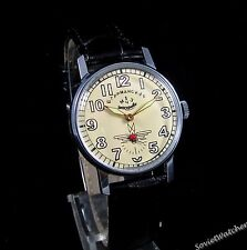 Poljot Shturmanskie Gagarin mens wrist watch Vintage USSR RARE Serviced & oiled