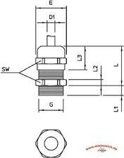 Kabelverschraubung V-Tec MS Pg 13,5 Messing vernickelt Bettermann Obo NEUWARE