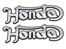 HONDA CAFE RACER CB 750/550/350 Norton Custom Tank Badge/Emblem/Stick On BILLET