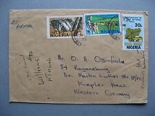 NIGERIA, cover to Germany 1975, hunting cattle Telex