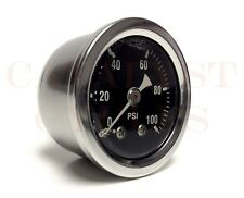"100 PSI Oil Pressure Gauge with 1/8"" NPT Male Fitting"