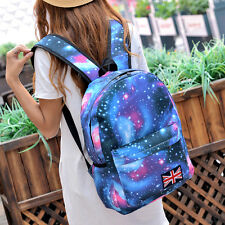 New Blue Galaxy Space Backpack Travel Rucksack Canvas Bag School Bookbag Satchel