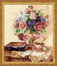 "Counted Cross Stitch Kit RIOLIS - ""Etude with Flowers"""