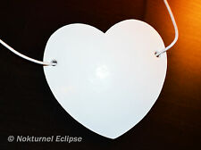 White Heart-Shaped Leather Eye Patch Cosplay Anime Geek Halloween UNISEX