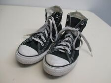 Kids black high top Converse Chuck Taylors lace up size 2 EUC