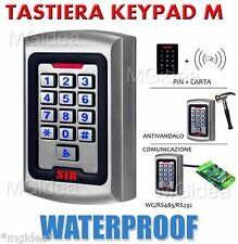TASTIERINO METALLO DIGITALE KEYPAD M ESTERNO ILLUMINATO ANTIVANDALO INTEMPERIE