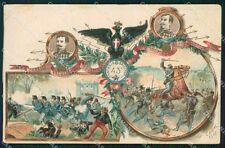 Militari 43º Reggimento Fanteria Brigata Forlì Cenni cartolina XF0127