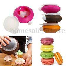 Large Silicone Macaron Baking Decorating Pastry Pen Cream Cake Muffin 3 Nozzle
