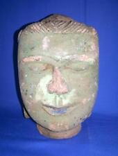 Antique Old Rare Vintage Religion Buddhism God Buddha Face Stone Statues Figures