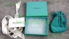 "Tiffany & Co. Authentic Jewelry Box Suede Draw String Pouch Ribbon Card 3¾"" x 3"""