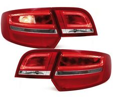 LIGHTBAR LED RÜCKLEUCHTEN AUDI A3 8P SPORTBACK 03-08 ROT RED/CHROME HECKLEUCHTEN