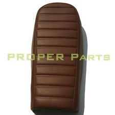 Cafe Racer Hump Seat Waterproof Stitching Stripes Leather Cover Brown New