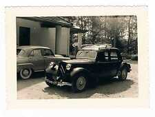 PHOTO ANCIENNE VINTAGE SNAPSHOT VOITURES TRACTION-AVANT CITROEN OLD CAR