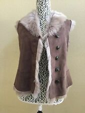 UGG WOMEN TOSCANA SHEARLING VEST STORMY GREY LAMBSKIN SHEARLING VEST Size S NWT
