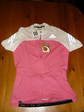 ADIDAS LADIES CYCLE SHORT SLEEVE JERSEY SUPERNOVA SIZE MEDIUM BNWT