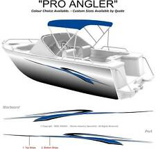 "BOAT GRAPHICS  DECAL STICKER KIT ""PRO ANGLER -2400"" MARINE CAST VINYL"