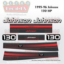 1995-96 Johnson 130 HP V4 Outboard Reproduction 8Pc Marine Vinyl Decal 2-Stroke