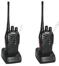 COPPIA RICETRASMITTENTE 16 CANALI 5W TRASMITTENTE RADIO UHF RICETRASMETTITORE