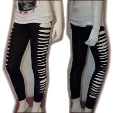 Sexy Punk Ripped Slit Cut-out Stretchy Cotton Legging Nicki Minaj Leggings 2XL