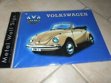 PLAQUE METAL VW COCCINELLE CABRIOLET Or 40*30