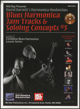 Blues Harmonica Jam Tracks & Soloing Concepts 3 Music Book/CD