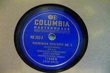 ENESCO 78RPM ROUMANIAN RHAPSODY N°1. CHICAGO SYMPHONY FREDERICK STOCK.