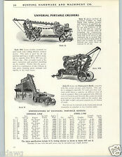 1926 PAPER AD Universal Portable Stone Gravel Crusher Cedar Rapids Iowa USA