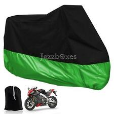 Large Green Motorcycle Dust Cover Street Sport Bikes Outdoor Indoor Protection