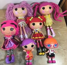 LALALOOPSY Lot of 6 Dolls 4 Full Size 2 Littles All Fully Dressed C