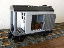 NEW City Cargo Train Custom Built w/ New Lego Bricks fits 9V RC Track Rail Sets