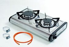 NEW MINI Gas Stove Cooker 2 burner Portable Camping Outdoor LPG 4.6kW